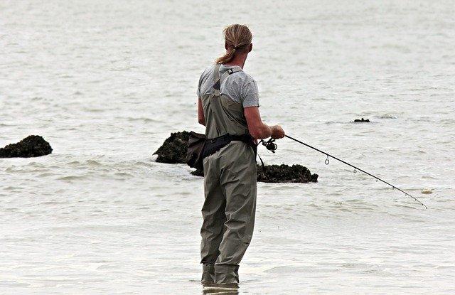 Mand der fisker
